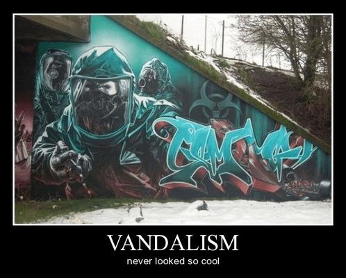 creepy graffiti vandalism - 8357016576