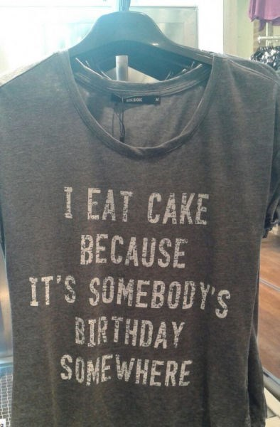 cake,t shirts,poorly dressed,g rated