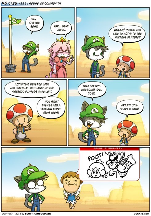 nintendo,video games,web comics,Miiverse,super mario 3d world