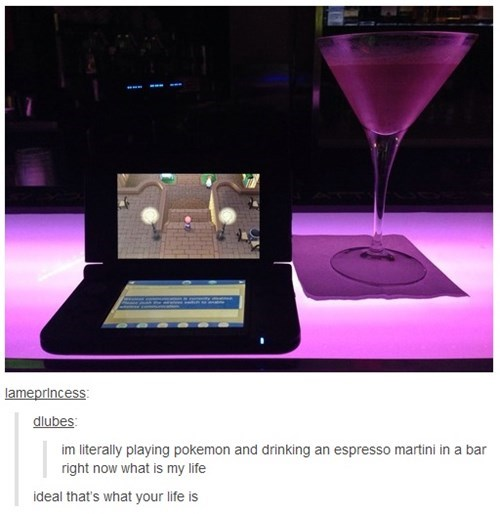 drinks,Pokémon,martini,living the good life