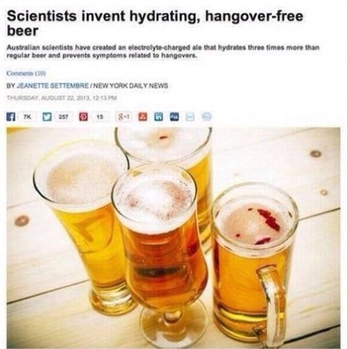 beer funny hangover science hydration - 8357207040