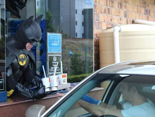 McDonald's,drive thru,batman
