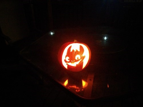 pumpkins halloween jack o lanterns toothless How to train your dragon - 8357581056