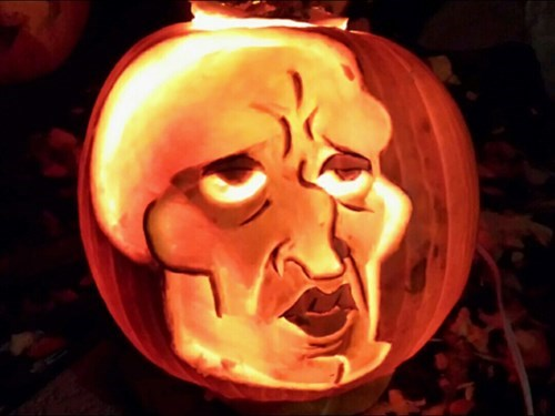 handsome squidward,pumpkins,halloween,jack o lanterns,SpongeBob SquarePants,cartoons