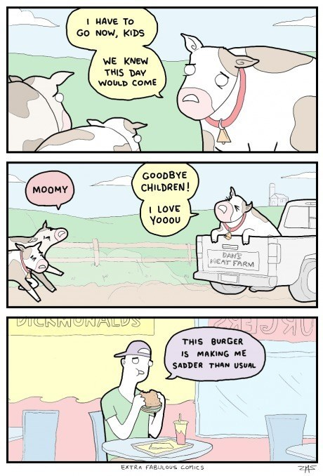 sad but true,burgers,cows,web comics