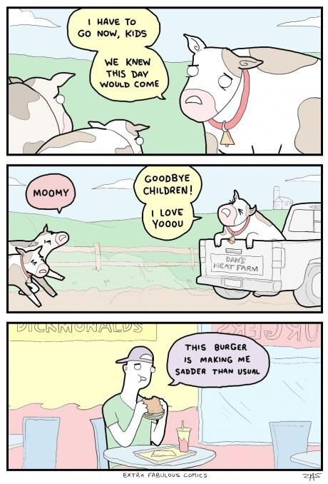 sad but true burgers cows web comics - 8358128128