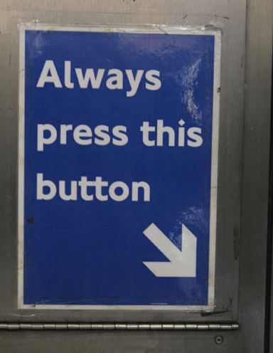 Blue - Always press this button