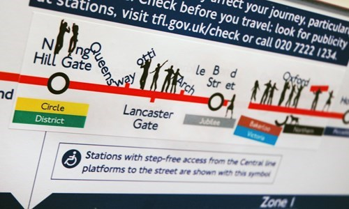 Font - :your journey, particular before you travel; look for publicity ons, visit tfl.gov.uk/check or call 020 7222 1234 N Hill Gate T xfoc le B d Str et otti nd Lancaster Gate Jublee Circle Veta District Stations with step-free access from the Central ine platforms to the street are shown with this symbe Zone