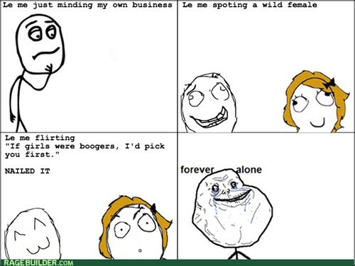 forever alone,flirting