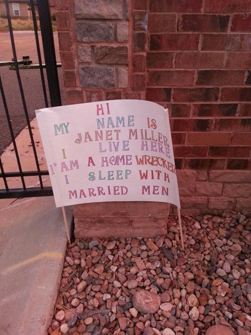 sign,wtf,home wrecker,funny,dating,g rated