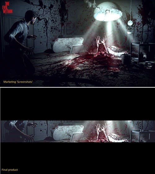 design decisions,horror,black bars,the evil within