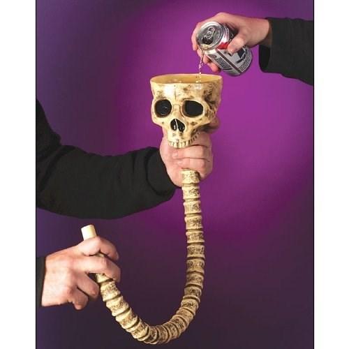 halloween,beer bong,skull,funny