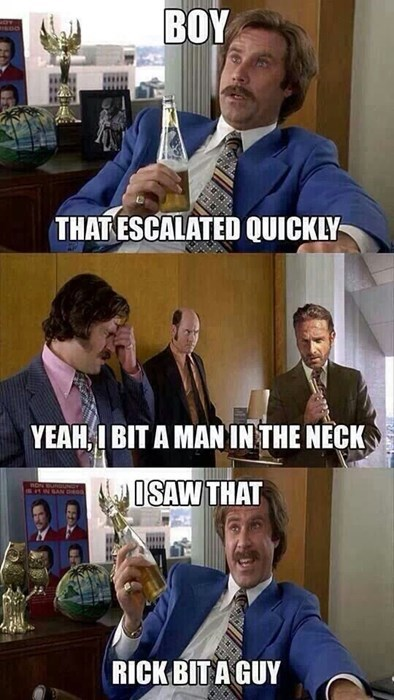 that escalated quickly Rick Grimes anchorman - 8358438912