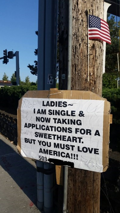 sign,america,idiots,online dating,funny,dating,g rated