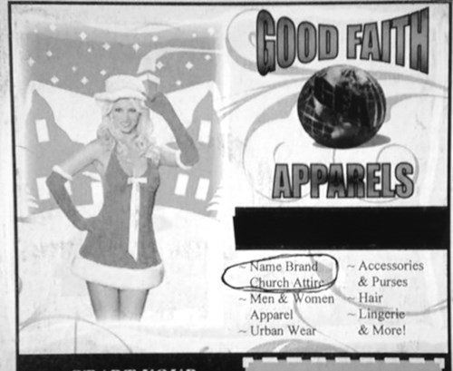 advertisement accidental sexy church newspaper - 8358480896