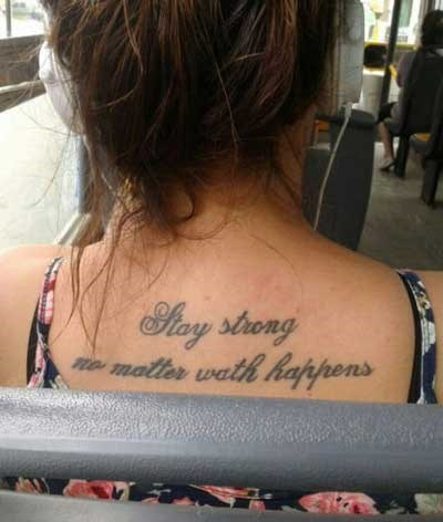 tattoos Ugliest Tattoos spelling g rated fail nation - 8358488576