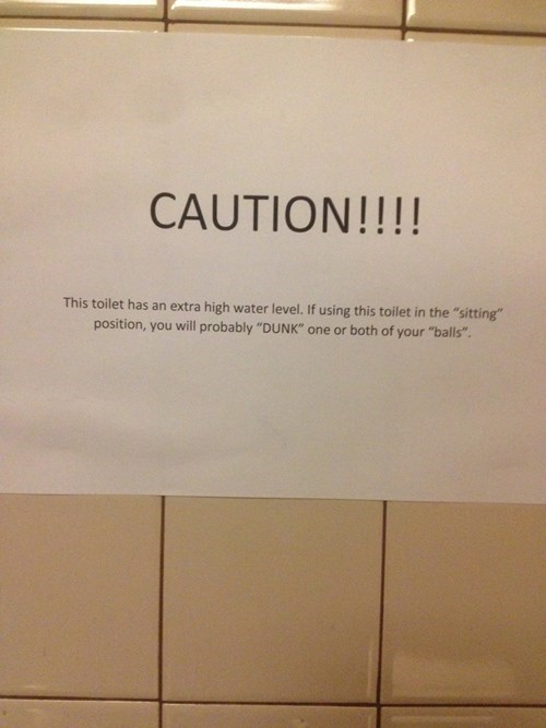 warning sign dude parts bathroom fail nation - 8358507520