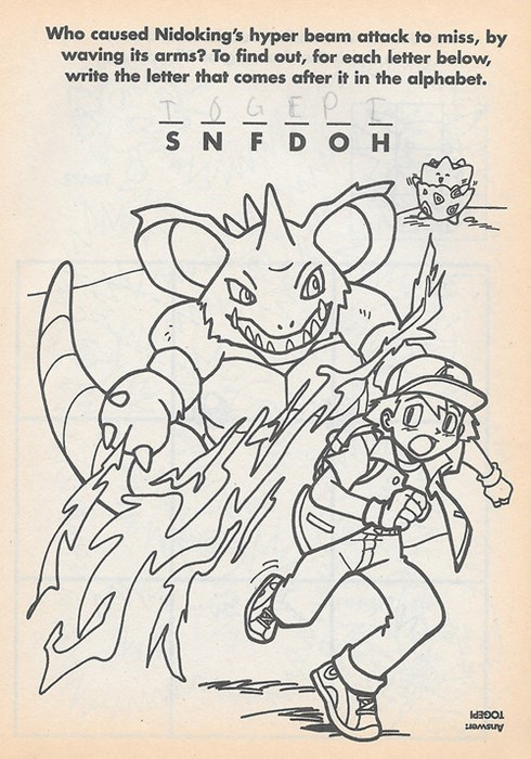 Pokémon coloring book togepi nidoking - 8358508800