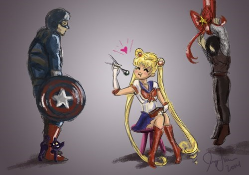 anime sailor moon captain america - 8358534144