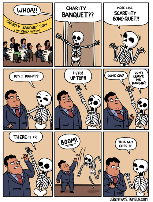 puns ebola skeletons web comics - 8358562304