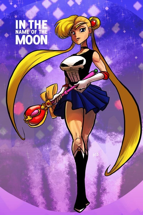 anime crossover Fan Art punisher sailor moon - 8358596608