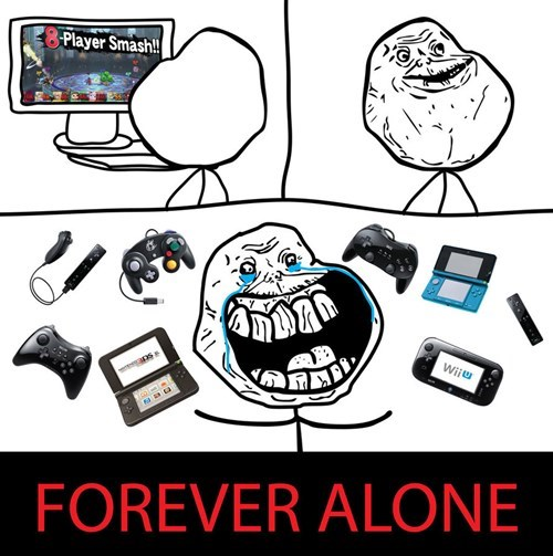 forever alone super smash bros - 8359162880