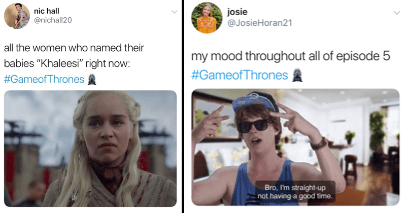 Game of thrones season 8 episode 5, game of thrones reactions, twitter reactions, funny tweets, twitter memes.