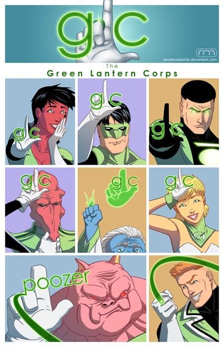 Fan Art,mashup,glee,Green lantern