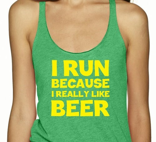 beer exercise funny tank top - 8360482816
