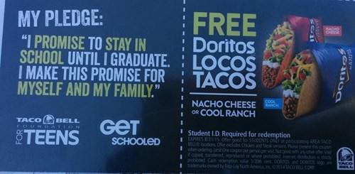 funny idiots taco bell school wtf - 8360530176