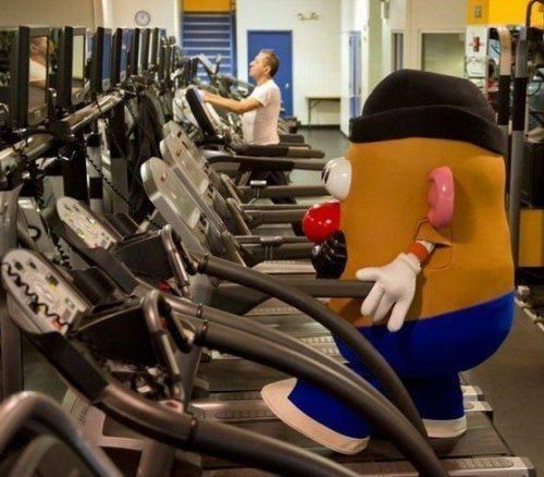 fitness,gym,exercise,mr potato head,workout