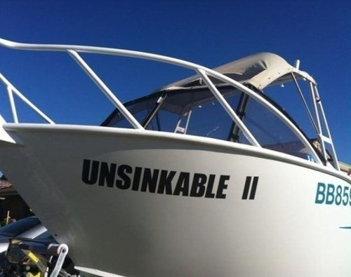 boat names,boats,unsinkable ii