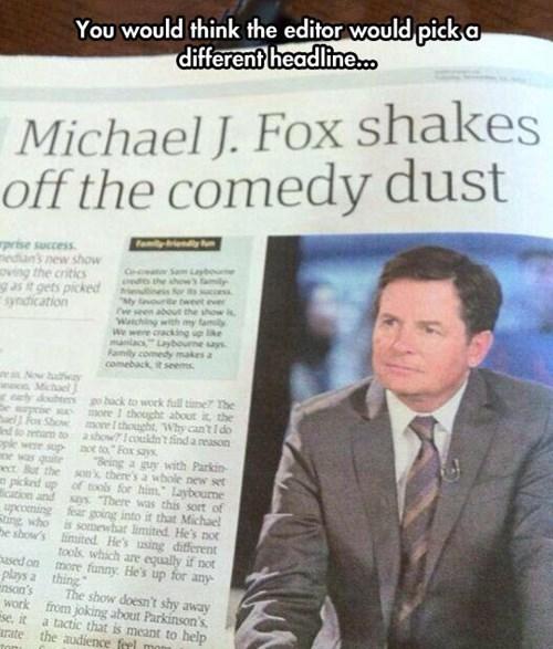 michael j fox headlines magazines