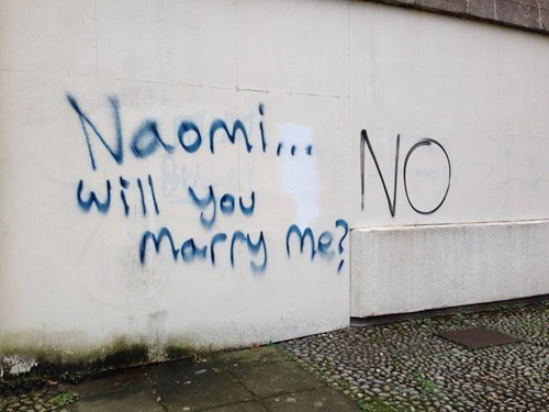 Awkward dating graffiti marriage proposals popping the question - 8360593920