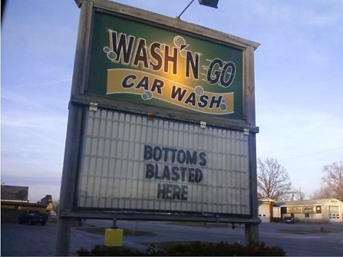 monday thru friday,sign,car wash