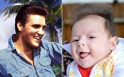Babies Elvis totally looks like