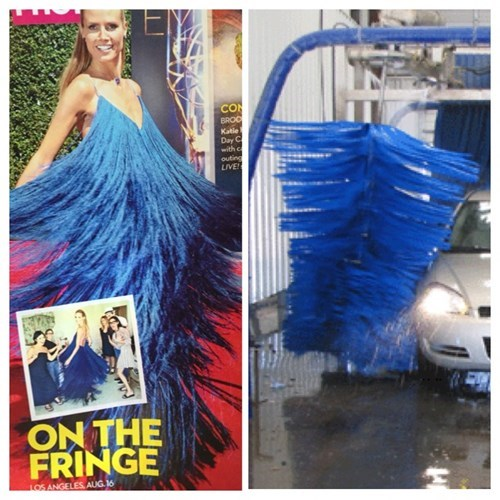 Fringe poorly dressed heidi klum project runway dress g rated - 8360935680