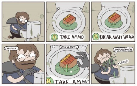 ammo fallout toilet video games web comics - 8360955392