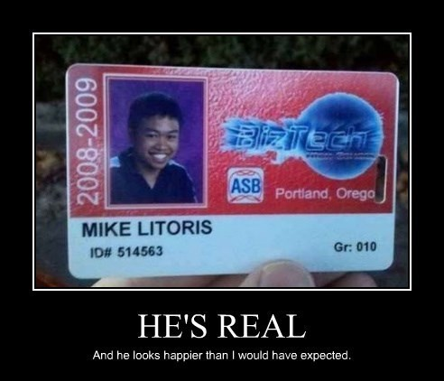fake name id funny Mike Litoris