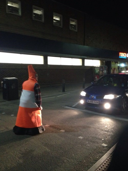 halloween costumes,halloween,traffic cones