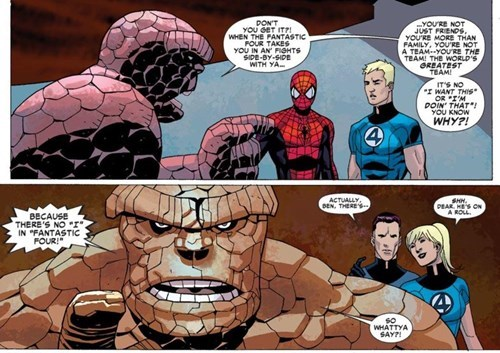 Fantastic Four The Thing Straight off the Page