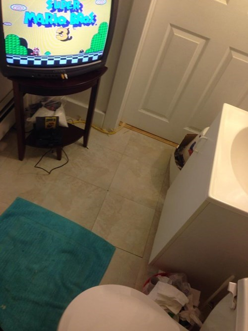 bathroom time bathrooms NES super mario bros 3 - 8361094656