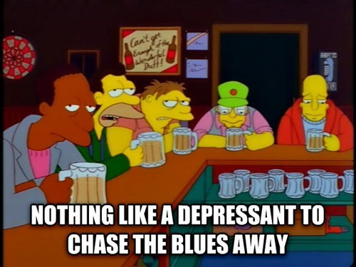 beer depressing funny the simpsons - 8361139712
