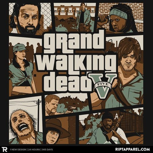 Grand Theft Auto The Walking Dead tshirts - 8361185536
