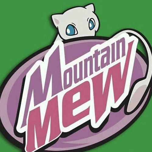 mew,Pokémon,mountain dew,rank up your game