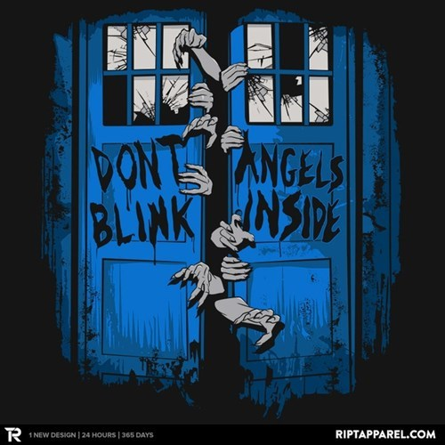 tardis,tshirts,weeping angels,don't open dead inside
