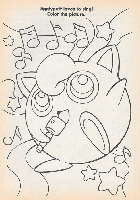 coloring book jigglypuff Pokémon - 8361209344
