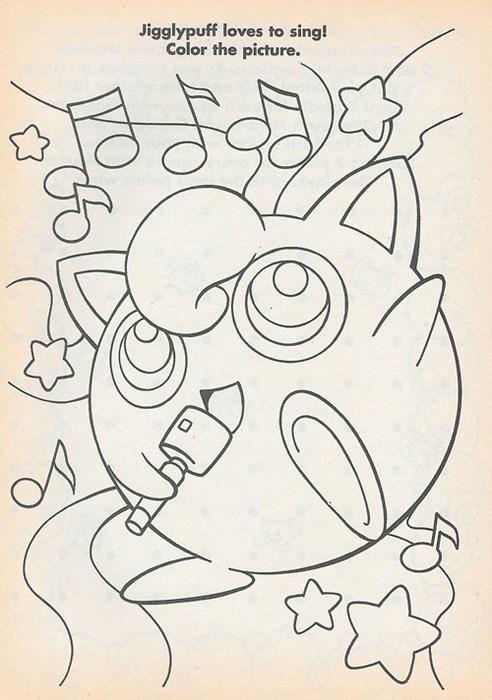 coloring book jigglypuff Pokémon - 8361209344