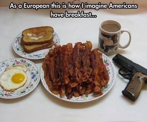 bacon breakfast guns europe - 8361533184