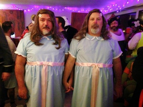 the shining,costume,creepy,halloween,poorly dressed,twins,g rated